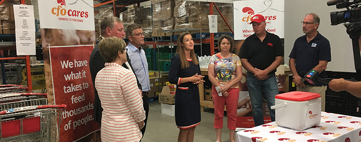 CFO Cares Farmers to Food Banks Donation in Barrie